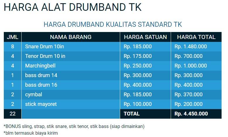 drumband tk terbaik harga murah