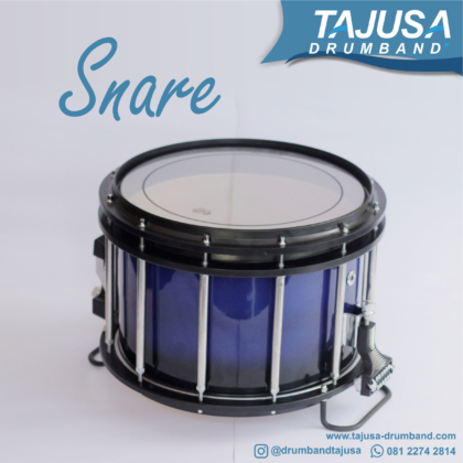 snare marchingband biru hitam
