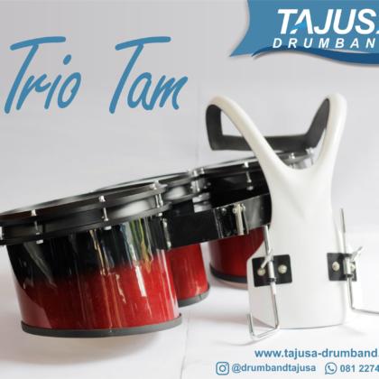 Trio Tam marching band dengan harnes fiber
