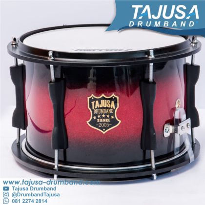 snare drum finising red black